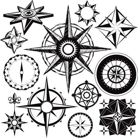Compass Collection Stock Vector - 13142537