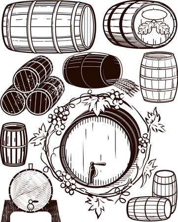 Barrel Collection Vector