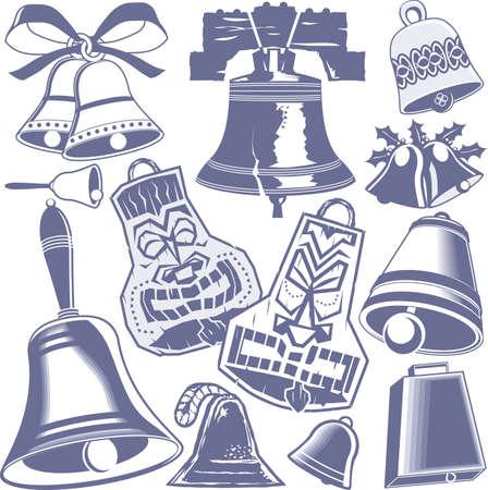 Colección de Bell Ilustración de vector