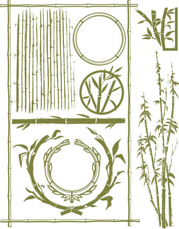 Bamboo Collection Vector