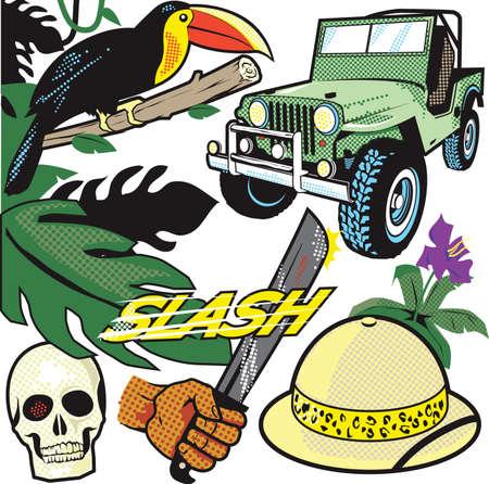 Comic Jungle Vector