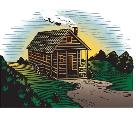 Countryside Cabin Stock Vector - 13142610