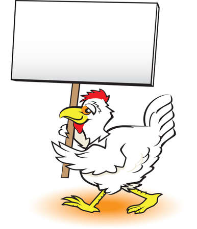 Picketing Chicken Stock Vector - 13142559
