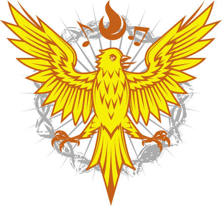 Fiery Canary Illustration