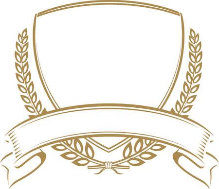 小麦の盾  イラスト・ベクター素材
