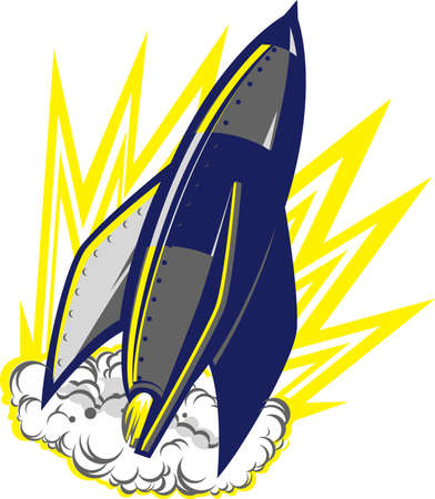 space cartoon: Iron Rocket