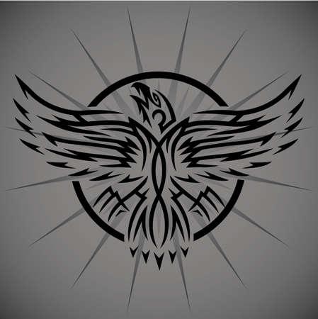 Tribal Eagle Emblem Illustration