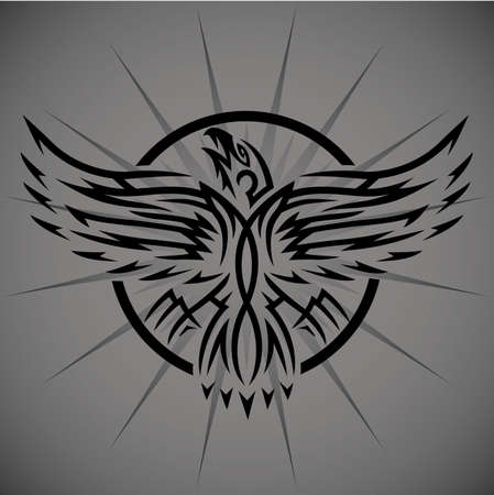 Tribal Eagle Emblem Illustration