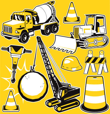 construction equipment: Construction Clip Art Illustration