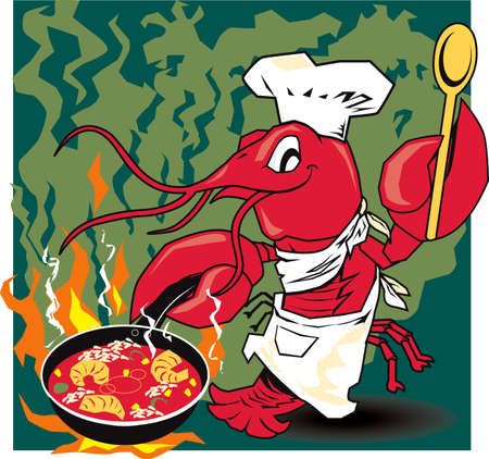 Crawfish Chef Illustration