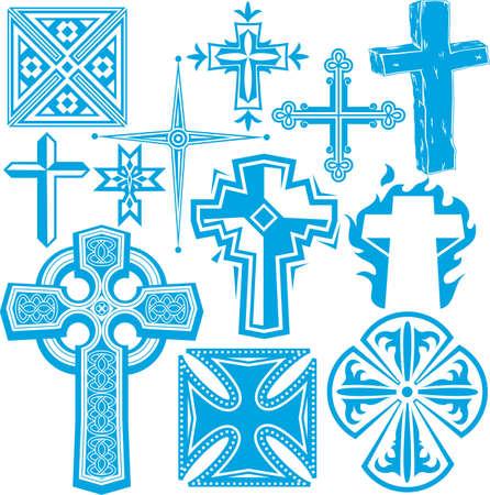 cruz de madera: Colecci�n Cross Vectores