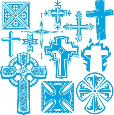 Cross Collectie Stock Illustratie