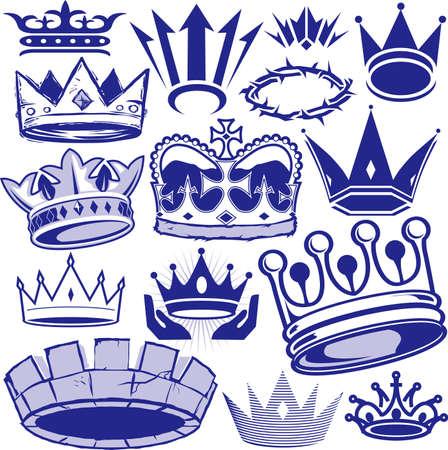 corona de espinas: Corona Colección Vectores