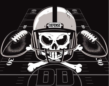 football helmet: Defense of Doom Illustration