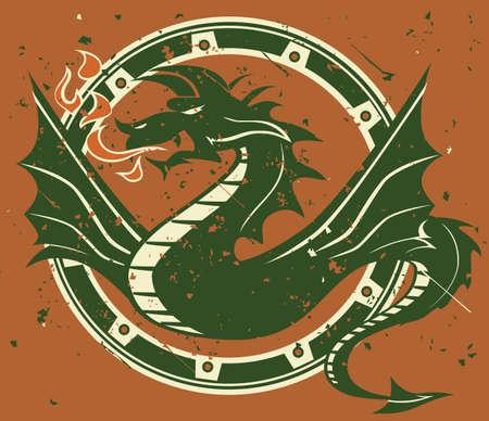 ring of fire: Dragon Emblem Illustration