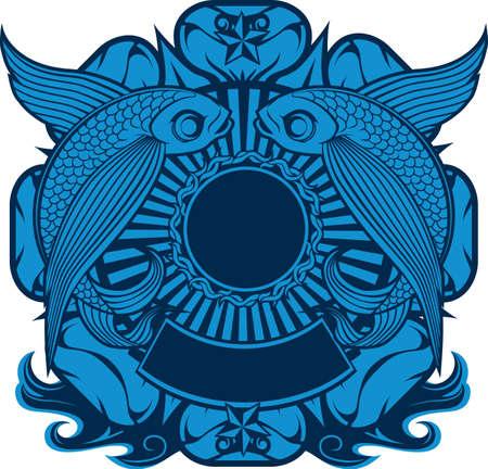 Emblème Flying Fish Vecteurs