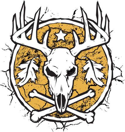 Droge aarde Hunter s Emblem Stock Illustratie
