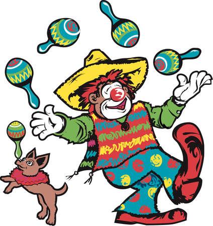 Juggling Clowns Ilustração