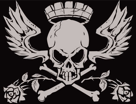King Crossbones Vector
