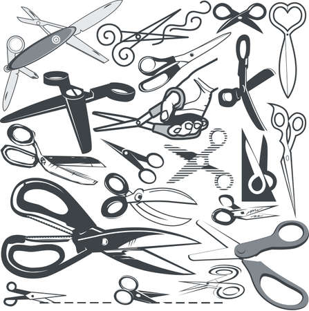 Scissors Collection Stock Vector - 13232359