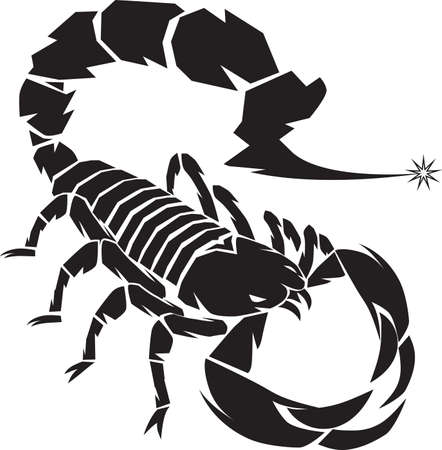an insect sting: Black Scorpion