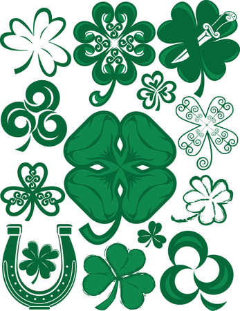 lucky clover: Shamrock Collection Illustration