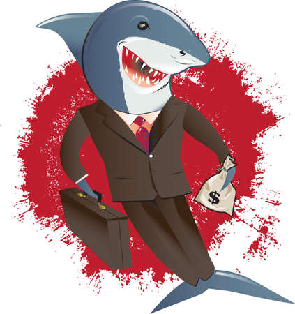 Shark in a Suit Vector