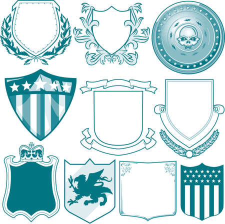 Shield Collection Stock Vector - 13232388