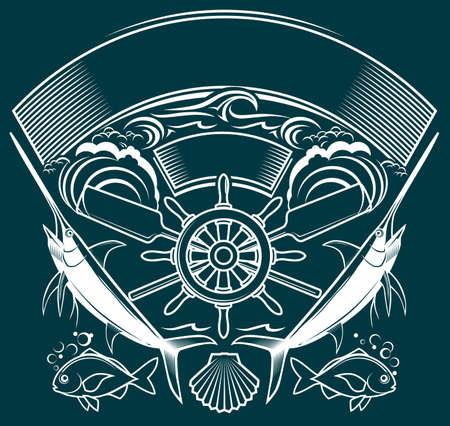 oars: Ship Wheel Crest