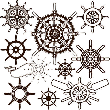 Ship Wheel Collection Vector