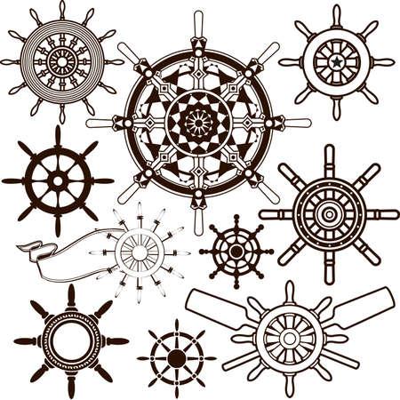circles pattern: Ship Wheel Collection