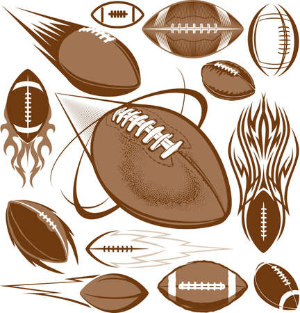 Football Collection Stock Vector - 13453554