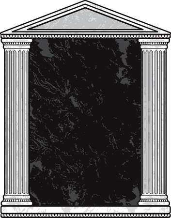doric: Marble Column Frame Illustration