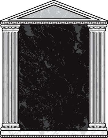 Marble Column Frame Vector