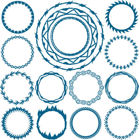 blue flame: Ring and Circle Designs Illustration