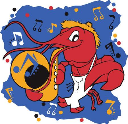 Musical Mudbug Vector
