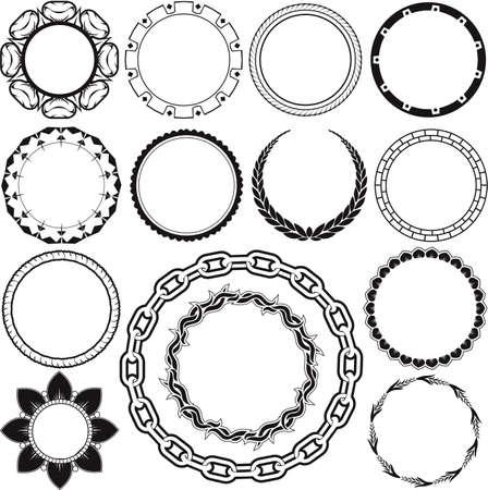Anello e Circle Designs Archivio Fotografico - 13453556