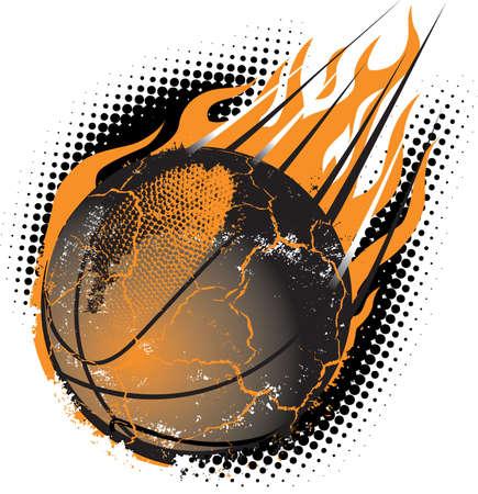 basketball ball on fire: Basketball Meteor