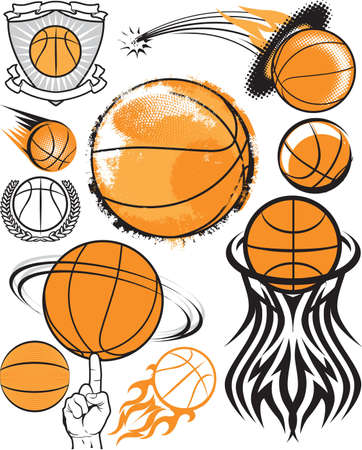 バスケット ボール コレクション  イラスト・ベクター素材