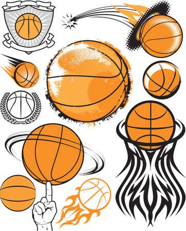 balon baloncesto: Colección de Baloncesto Vectores