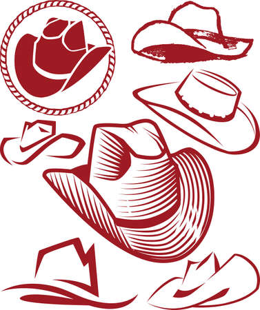 Cowboy Hat Collection Vettoriali