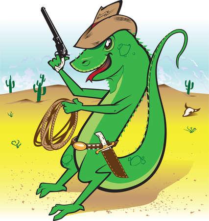 Desert Bounty Hunter  イラスト・ベクター素材
