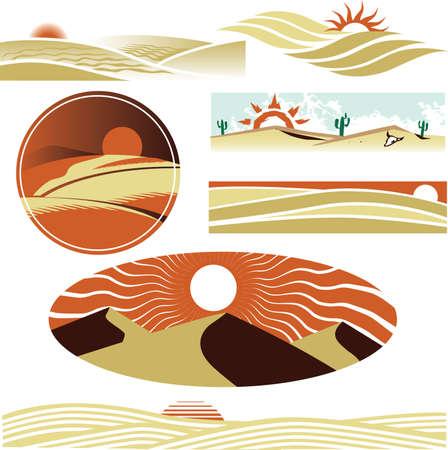 Desert Dunes Stock Vector - 13453609