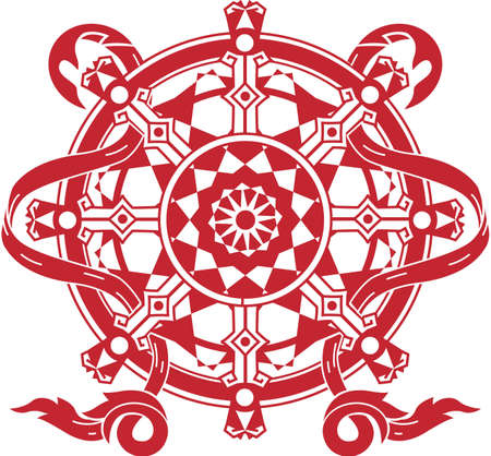 Dharma Wheel Stock Vector - 13453601