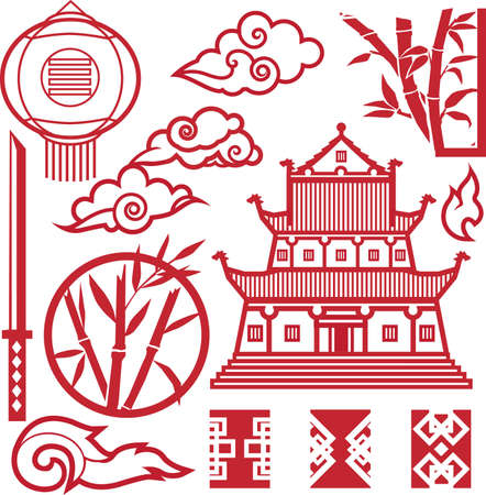 Eastern Elements Collection Vector