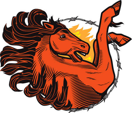 Fiery Stallion Vector