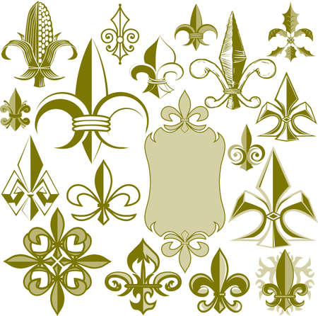 Fleur-de-lis Collection Vector