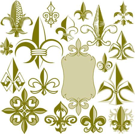 with sets of elements: Fleur-de-lis Collection
