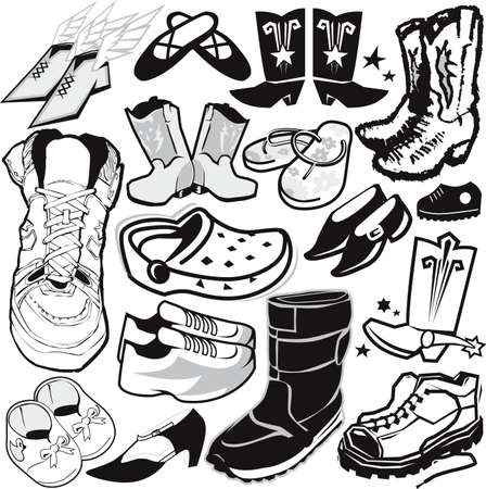 Footwear Collection Stock Vector - 13453600