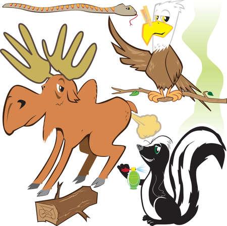 stinktier: Lustige Waldtiere Illustration